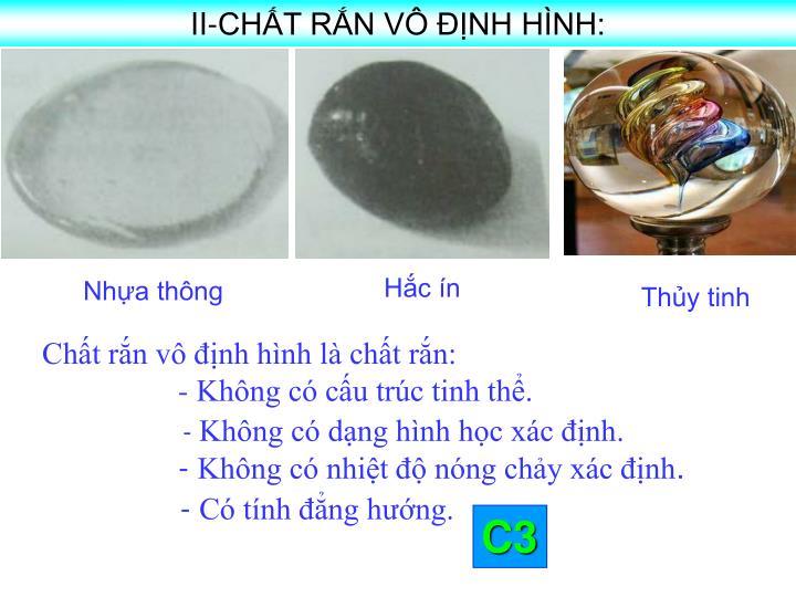 II-CHT RN V NH HNH: