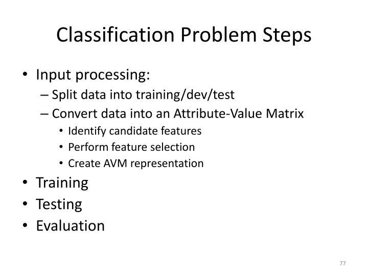 Classification Problem Steps