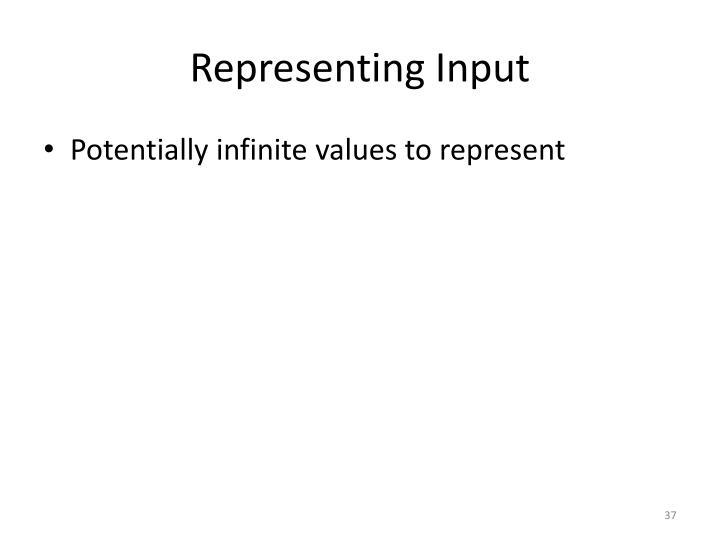 Representing Input