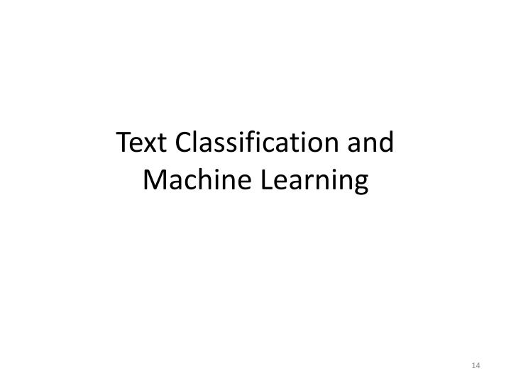 Text Classification and