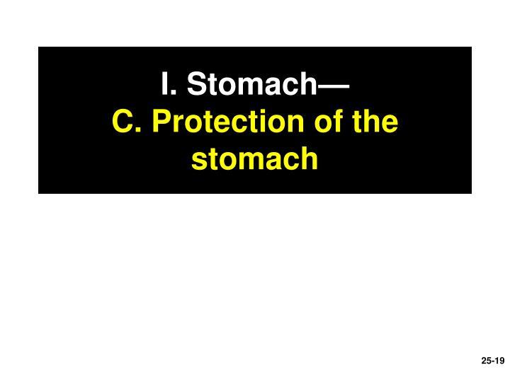I. Stomach—