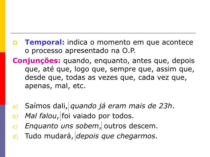 Temporal: