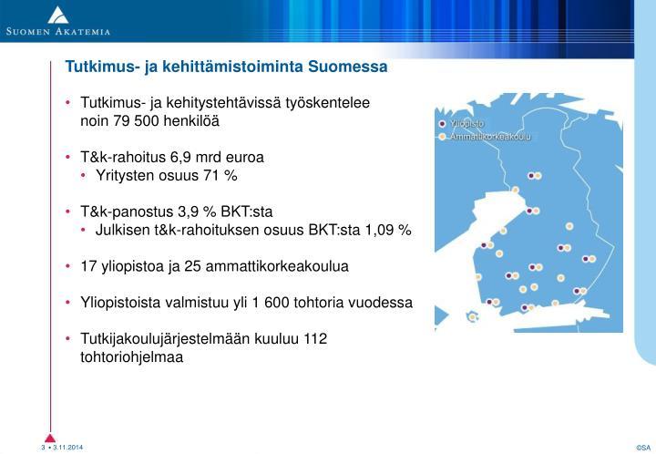 T&k-toiminta Suomessa