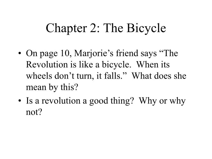 Chapter 2: The Bicycle