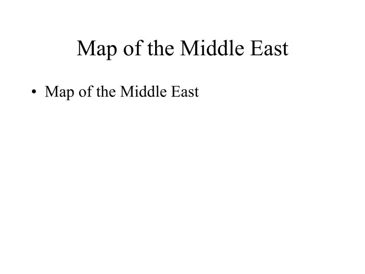 Map of the Middle East