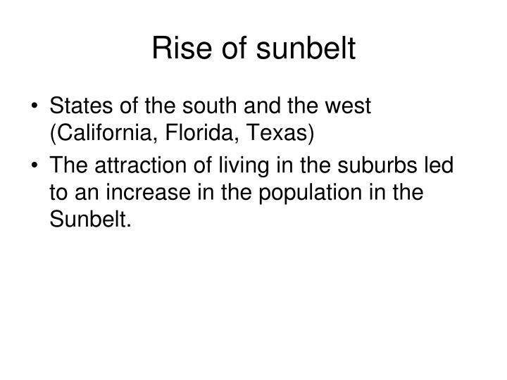 Rise of sunbelt