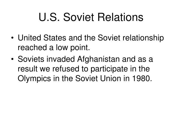 U.S. Soviet Relations