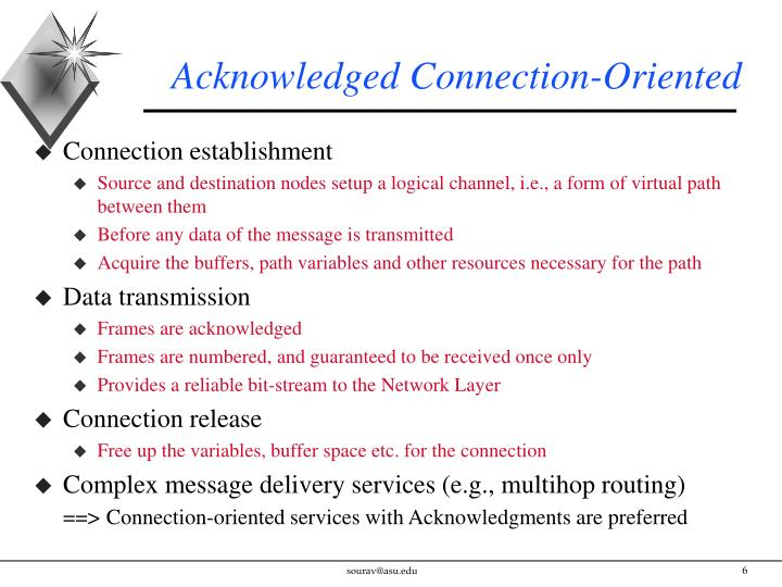 Acknowledged Connection-Oriented