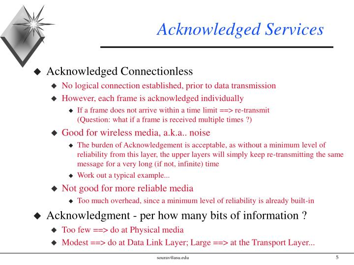 Acknowledged Services