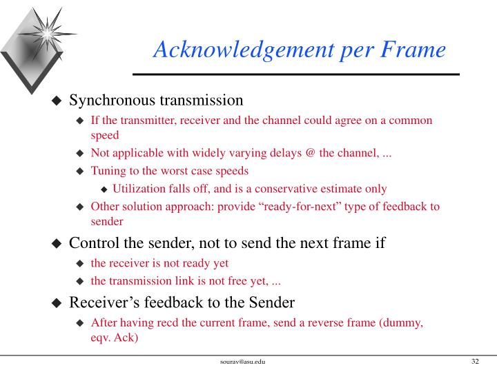 Acknowledgement per Frame