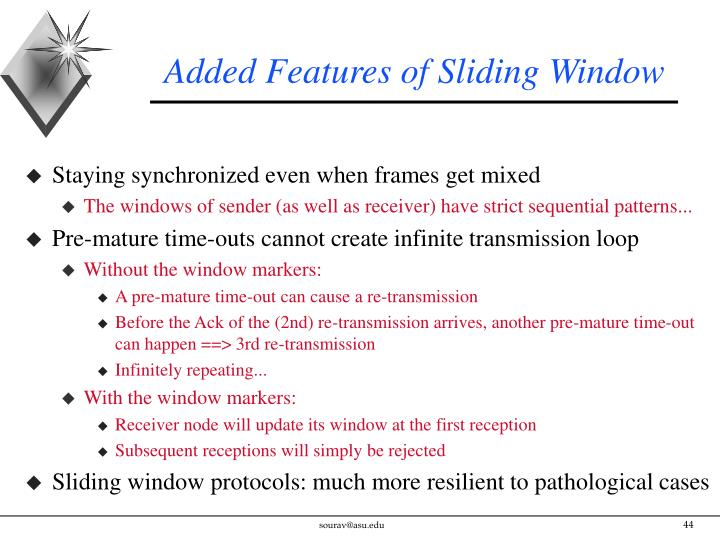 Added Features of Sliding Window