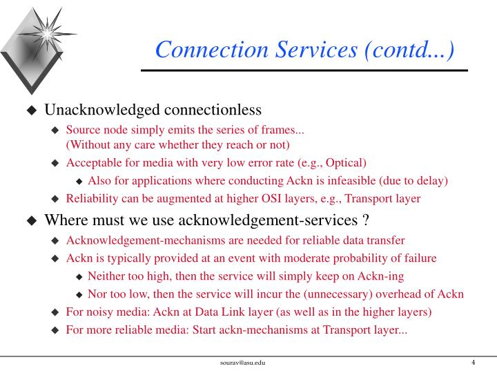 Connection Services (contd...)