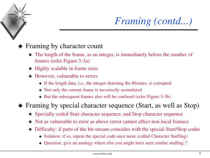 Framing (contd...)