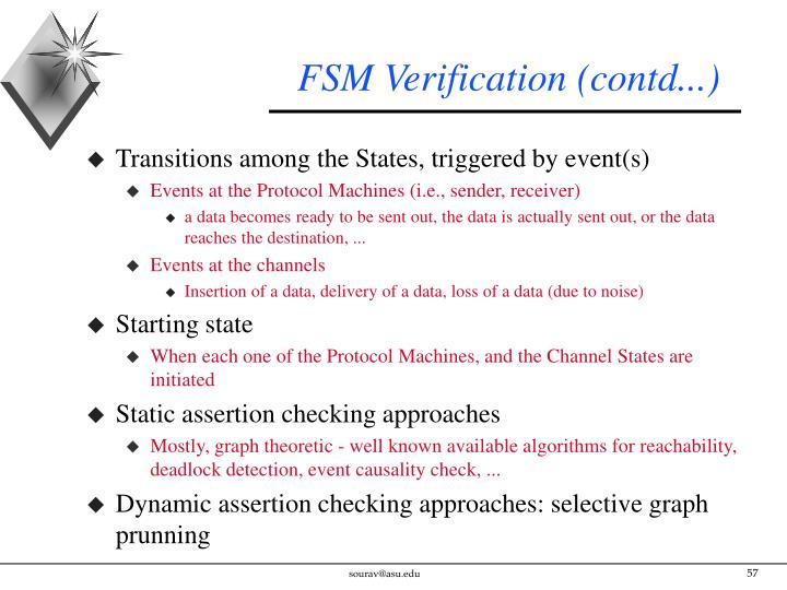 FSM Verification (contd...)