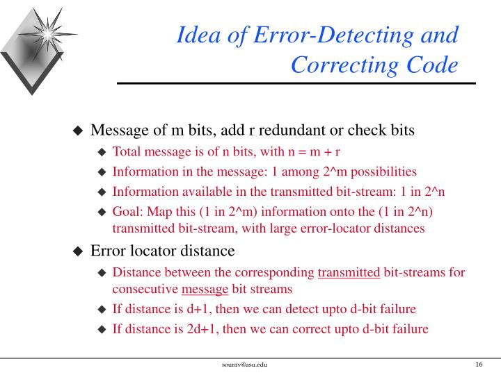 Idea of Error-Detecting and Correcting Code