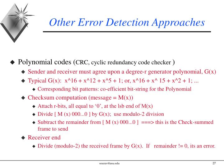 Other Error Detection Approaches