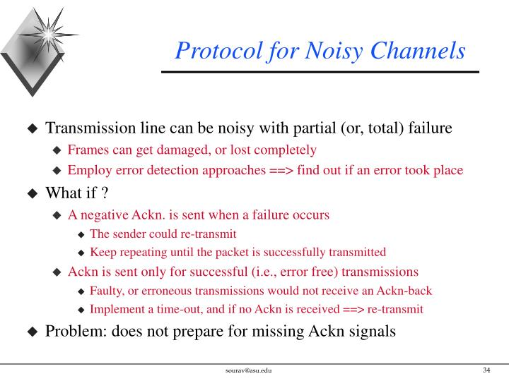 Protocol for Noisy Channels