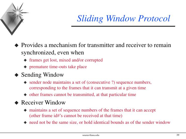 Sliding Window Protocol