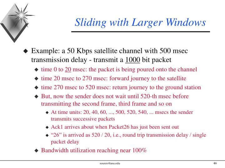 Sliding with Larger Windows