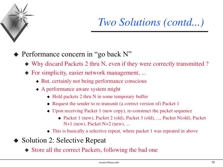 Two Solutions (contd...)