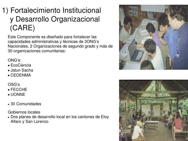 1) Fortalecimiento Institucional