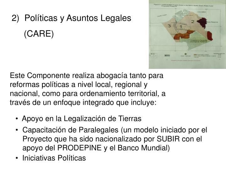 2)  Políticas y Asuntos Legales