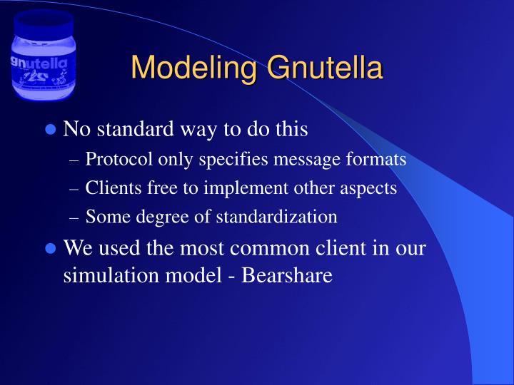 Modeling Gnutella