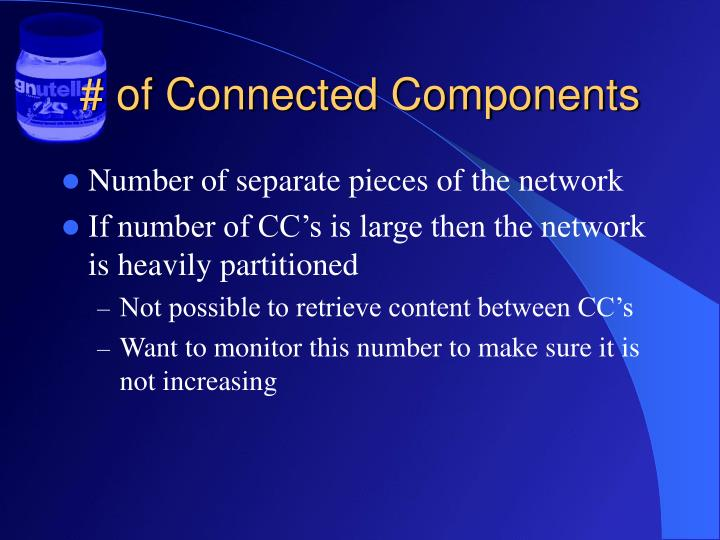 # of Connected Components