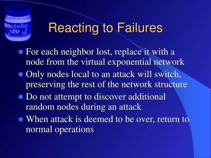 Reacting to Failures