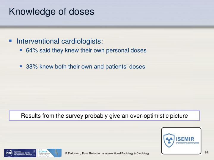 Knowledge of doses