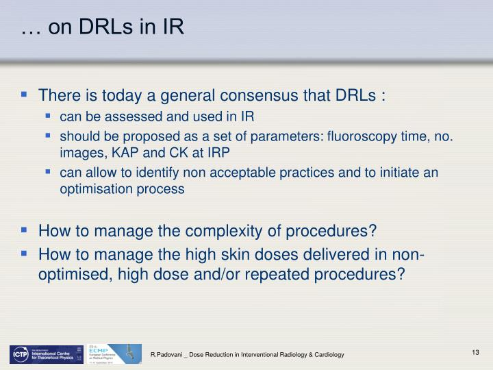 … on DRLs in IR