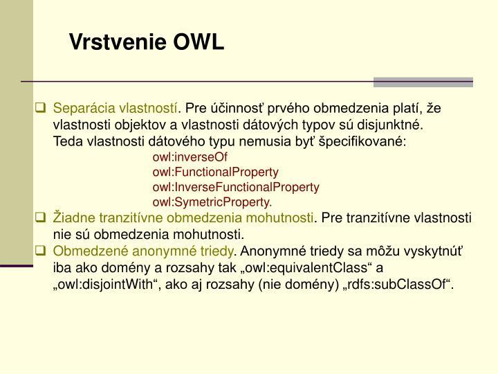 Vrstvenie OWL