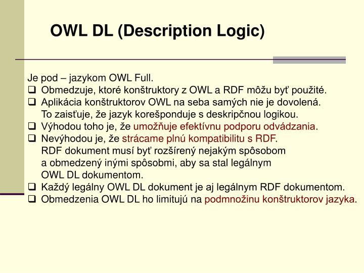 OWL DL (Description Logic)