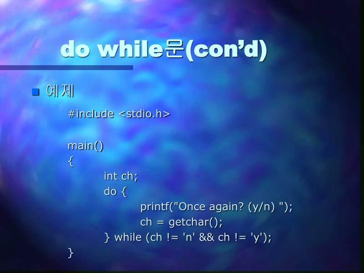 do while