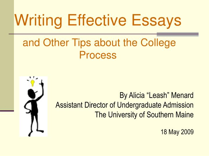 Writing Effective Essays