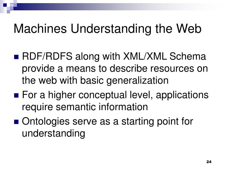 Machines Understanding the Web