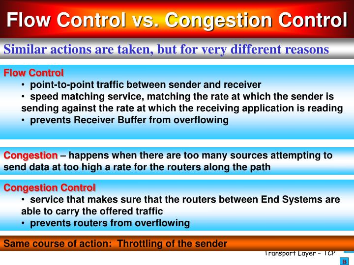 Flow Control vs. Congestion Control