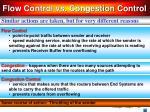 flow control vs congestion control