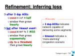 refinement inferring loss
