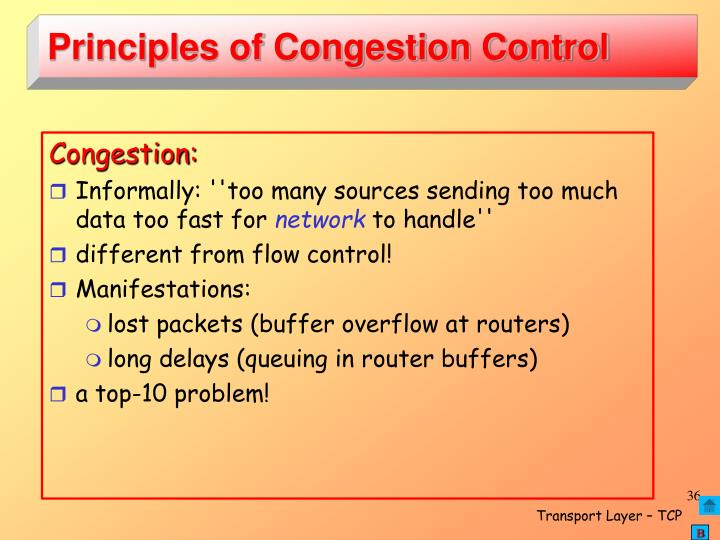 Principles of Congestion Control