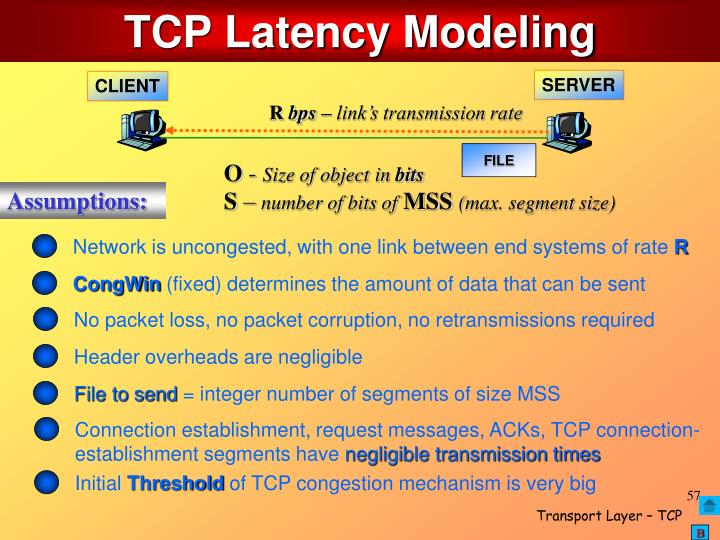TCP Latency Modeling
