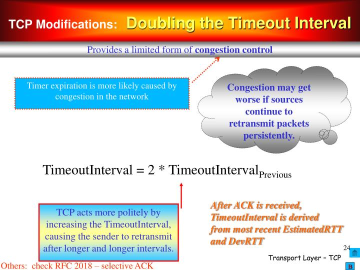 TCP Modifications:
