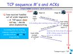 tcp sequence s and acks1