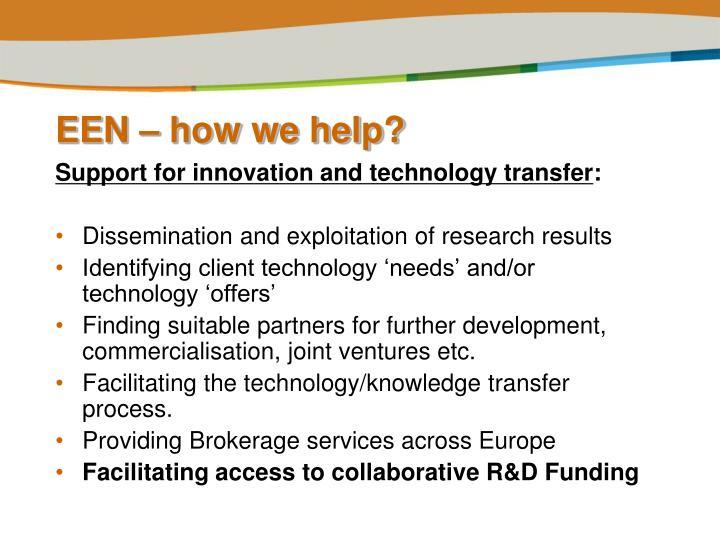 EEN – how we help?