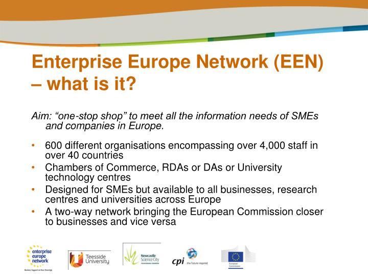 Enterprise Europe Network (EEN) – what is it?