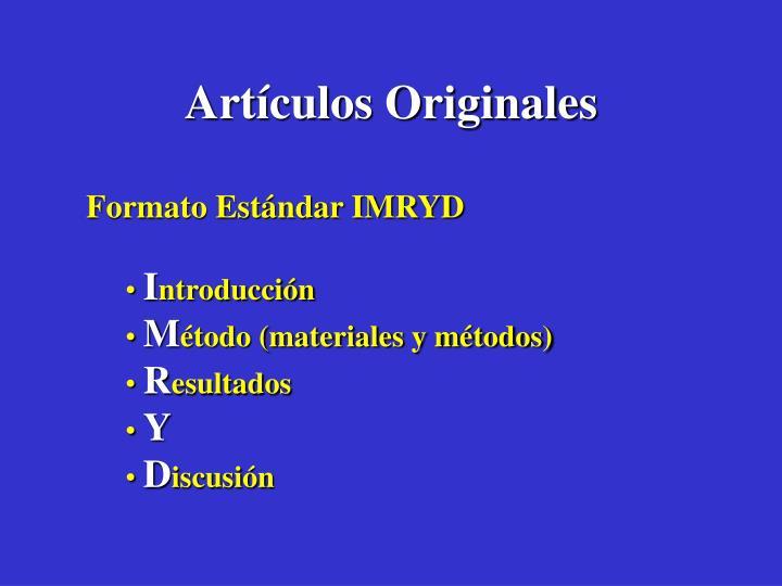 Artículos Originales