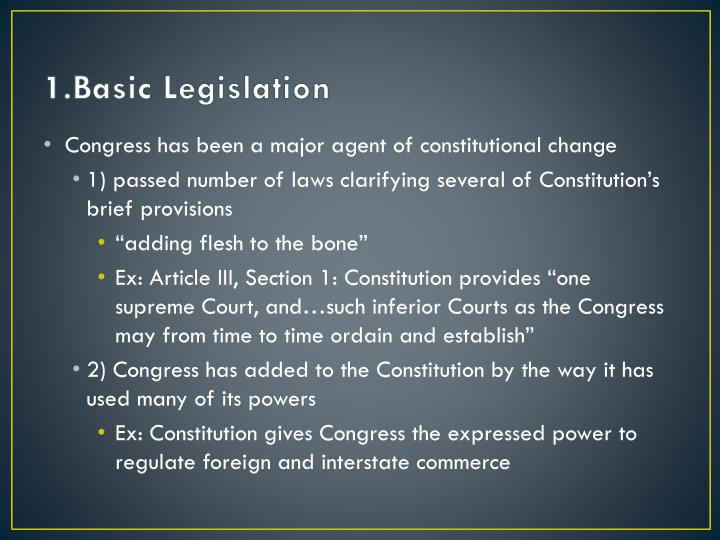 1.Basic Legislation