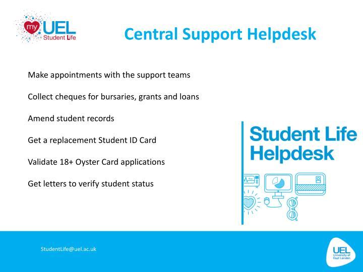 Central Support Helpdesk
