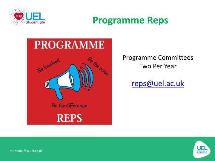 Programme Reps