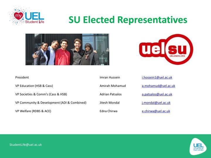 SU Elected Representatives